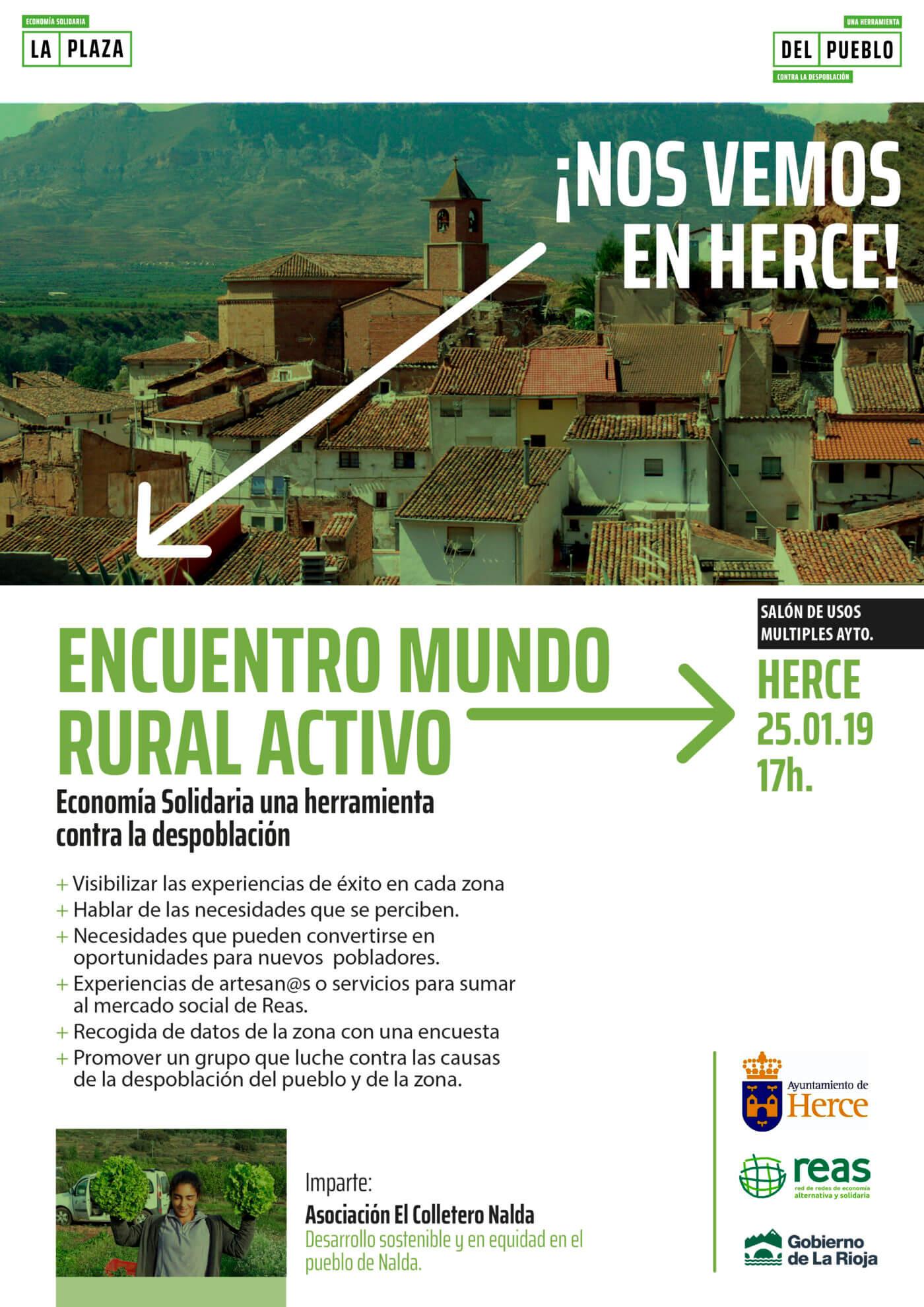 Mañana se celebra un encuentro sobre la economía solidaria como herramienta contra la despoblación