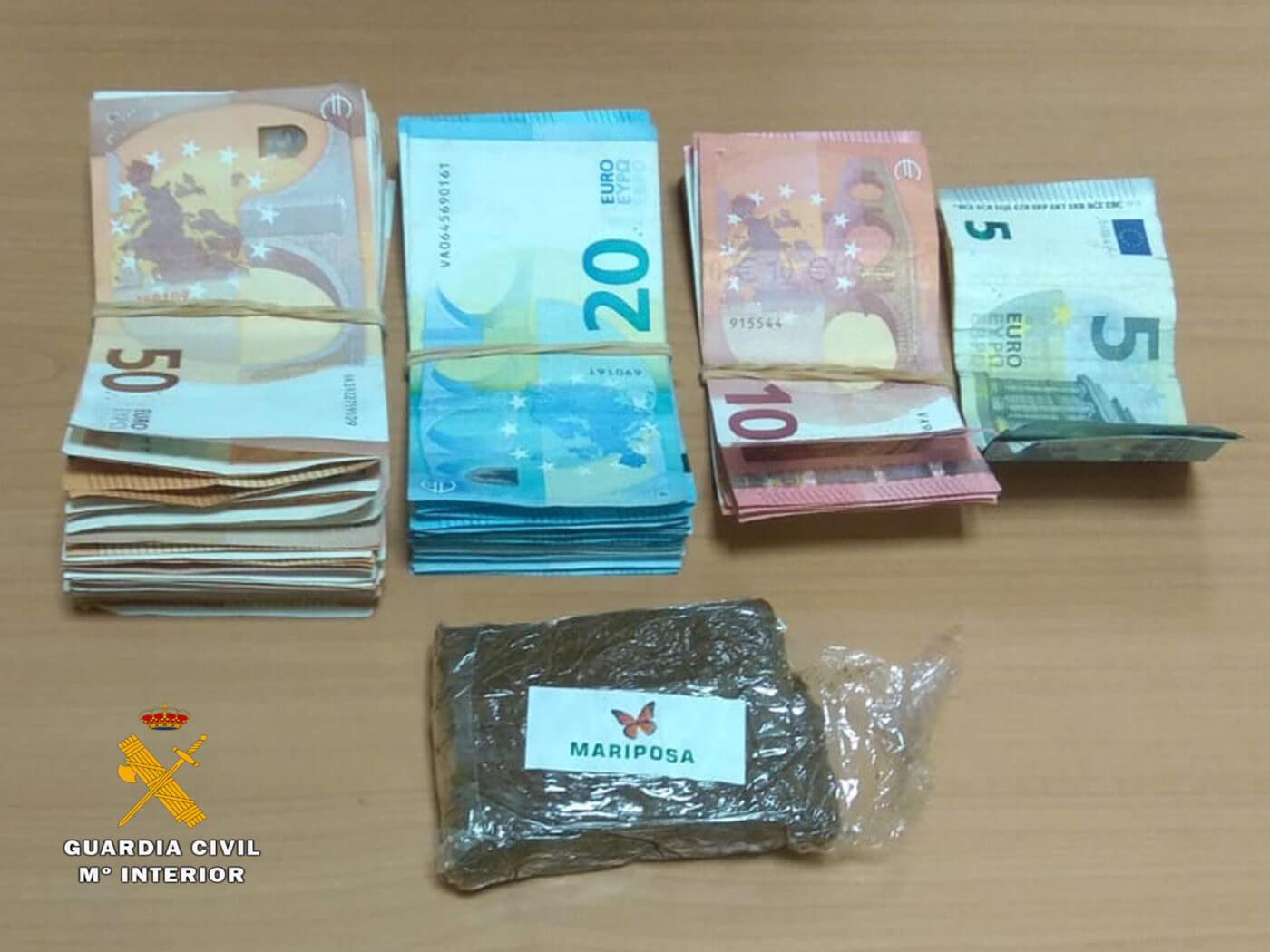 La Guardia Civil detiene a un joven de 25 años por un presunto delito de tráfico de drogas