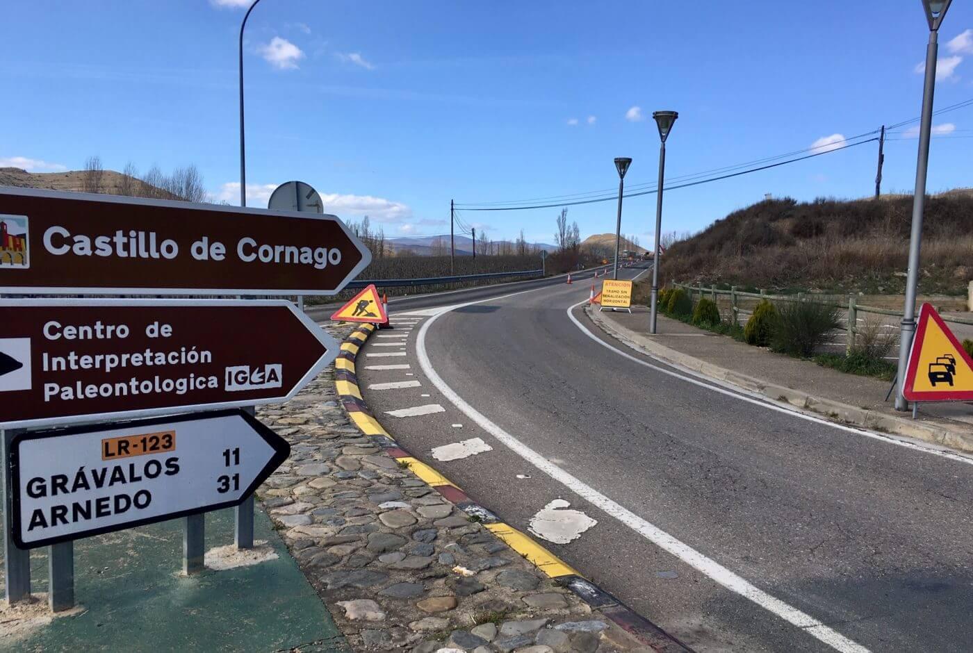 El Gobierno de La Rioja invertirá 982.000 euros en las obras de mejora de la LR-123 en Cervera