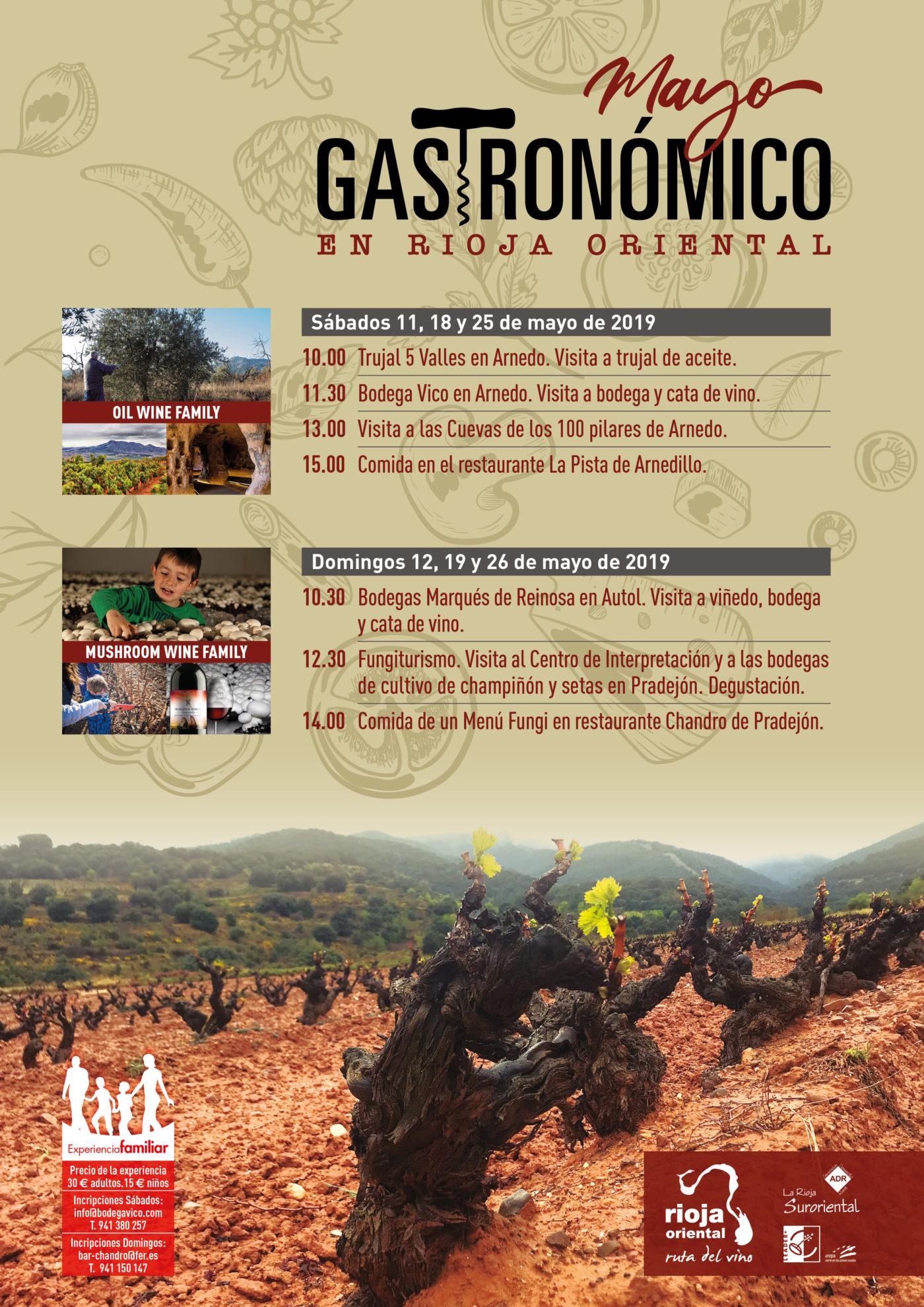 Lee más sobre el artículo La Ruta del Vino Rioja Oriental presenta la oferta 'Mayo Gastronómico' con visitas, catas y comidas