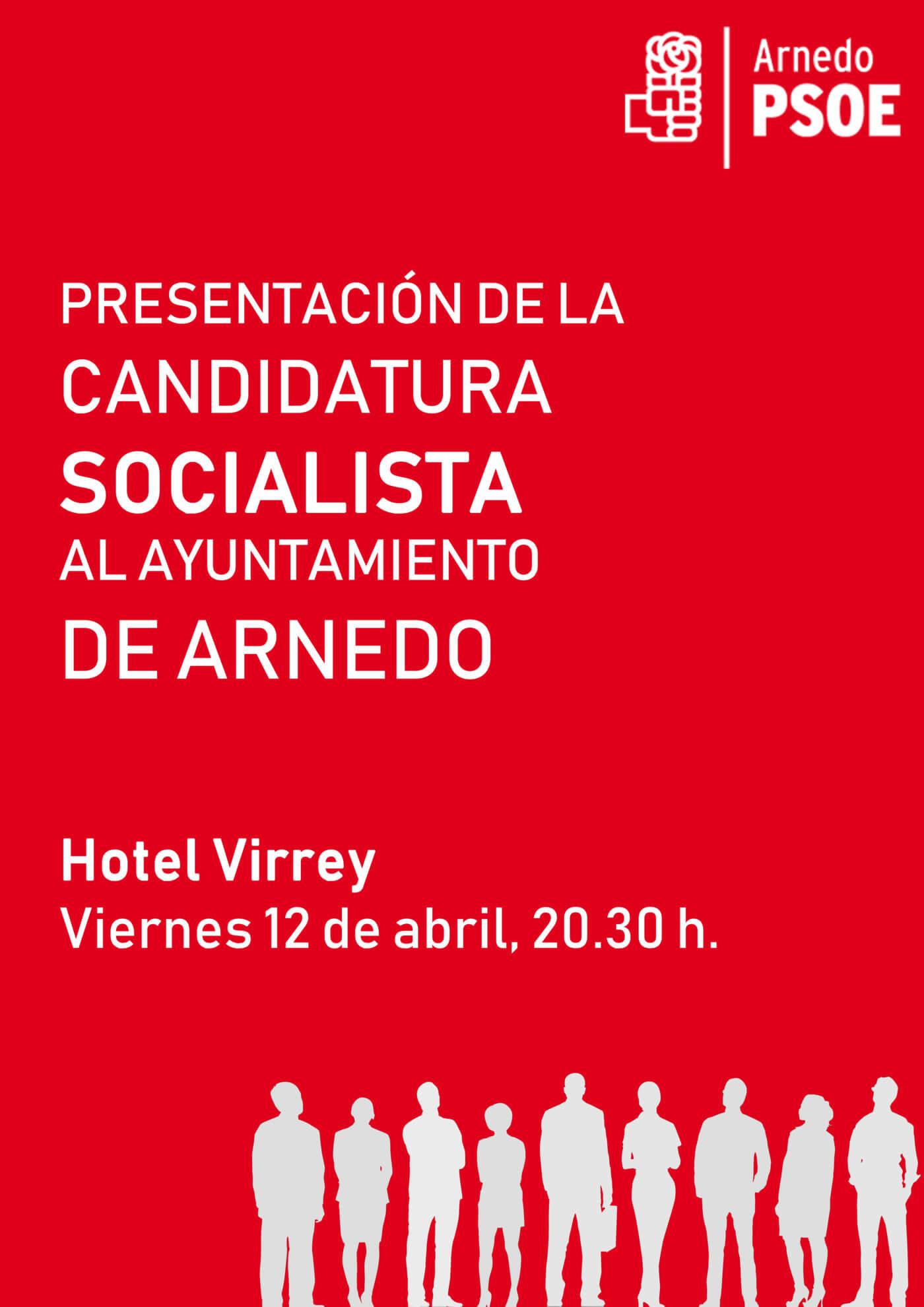 PSOE Arnedo presenta su candidatura municipal este viernes 12 de abril en un acto público en el hotel Virrey
