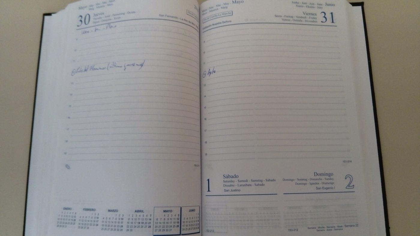 Agenda de actividades del fin de semana