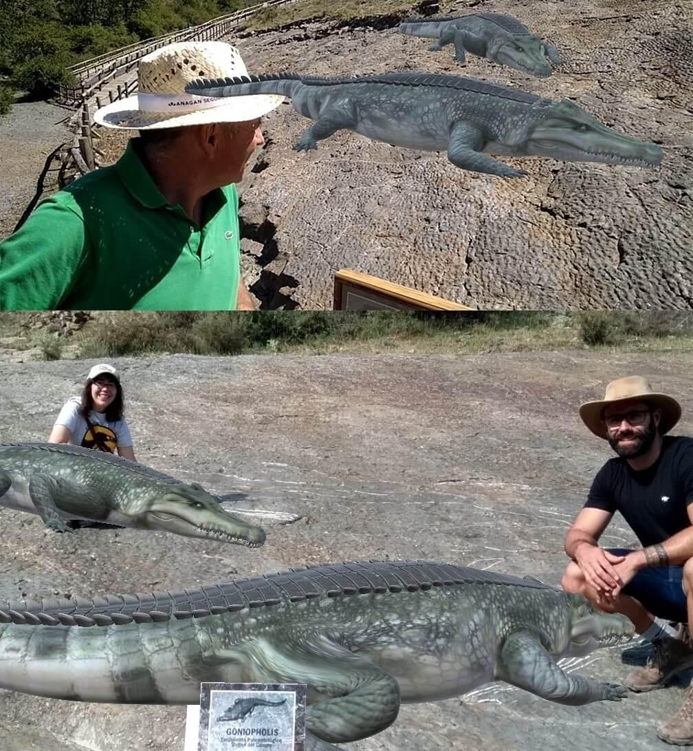 Reproducciones 3D de dinosaurios en el yacimiento de icnitas de la Virgen del Campo de Enciso