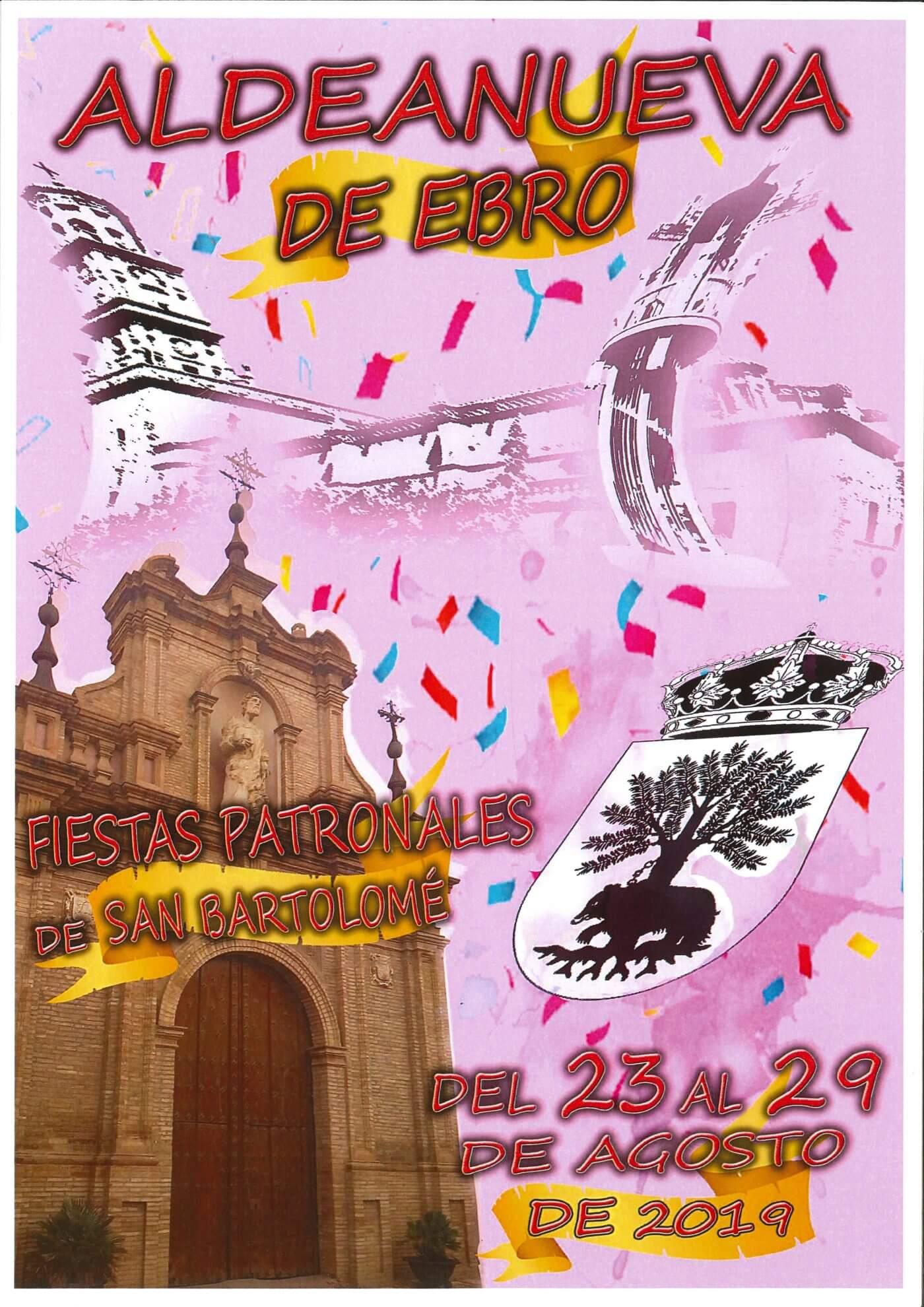 Aldeanueva de Ebro celebra sus fiestas de San Bartolomé del 23 al 29 de agosto