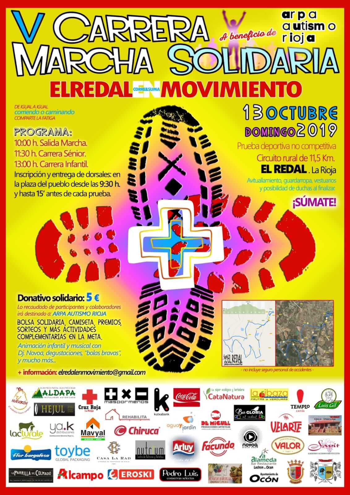 El domingo 13 se celebra la V Carrera-Marcha de El Redal, a beneficio de ARPA-Autismo Rioja