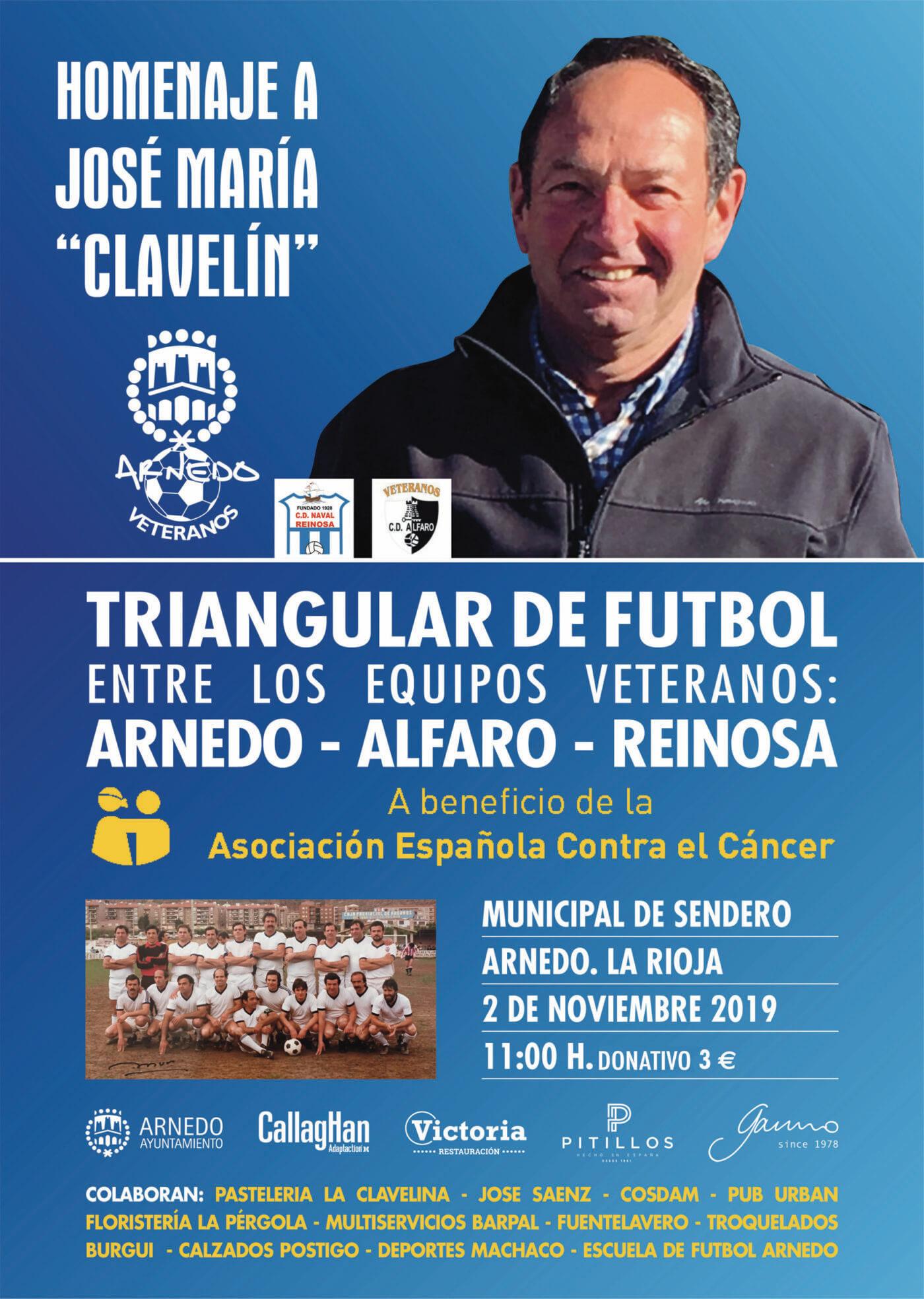 Un triangular de fútbol de veteranos homenajeará a José María de Blas 'Clavelín'