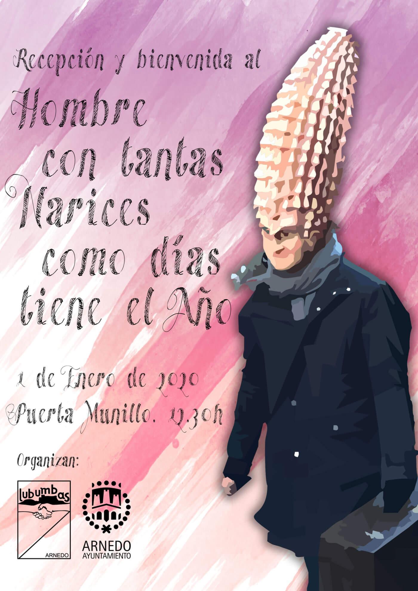 La Peña Lubumbas de Arnedo presenta su anuario del 2019 y acto de bienvenida al 'Hombre con tantas narices'