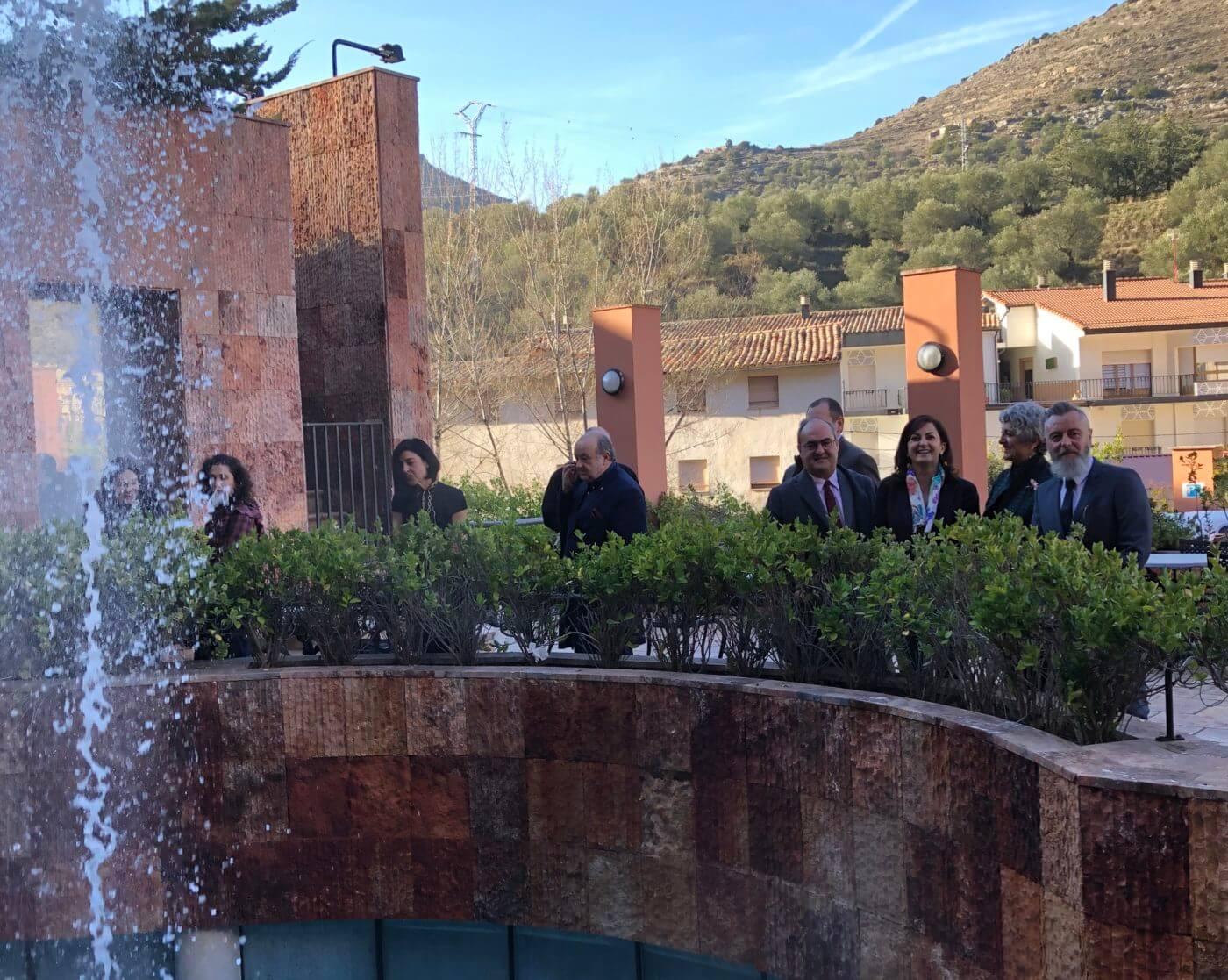 Andreu ofrece la colaboración del Gobierno regional para promover el potencial del Balneario de Arnedillo