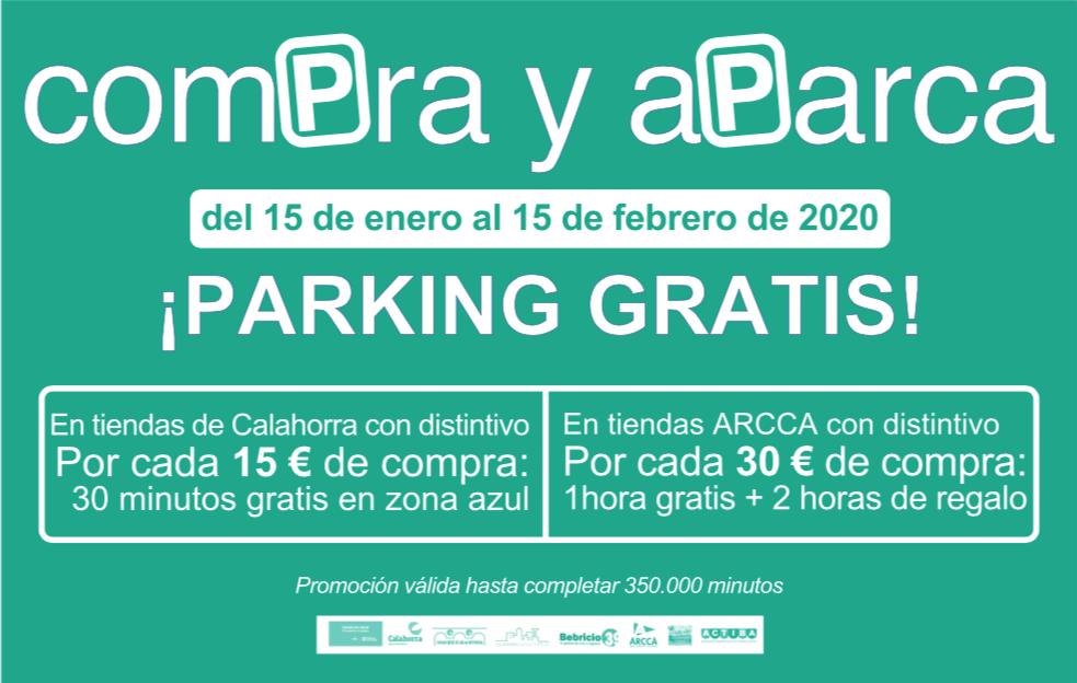Del 15 de enero al 15 de febrero se desarrollará en Calahorra una nueva edición de la campaña 'Compra y aparca'