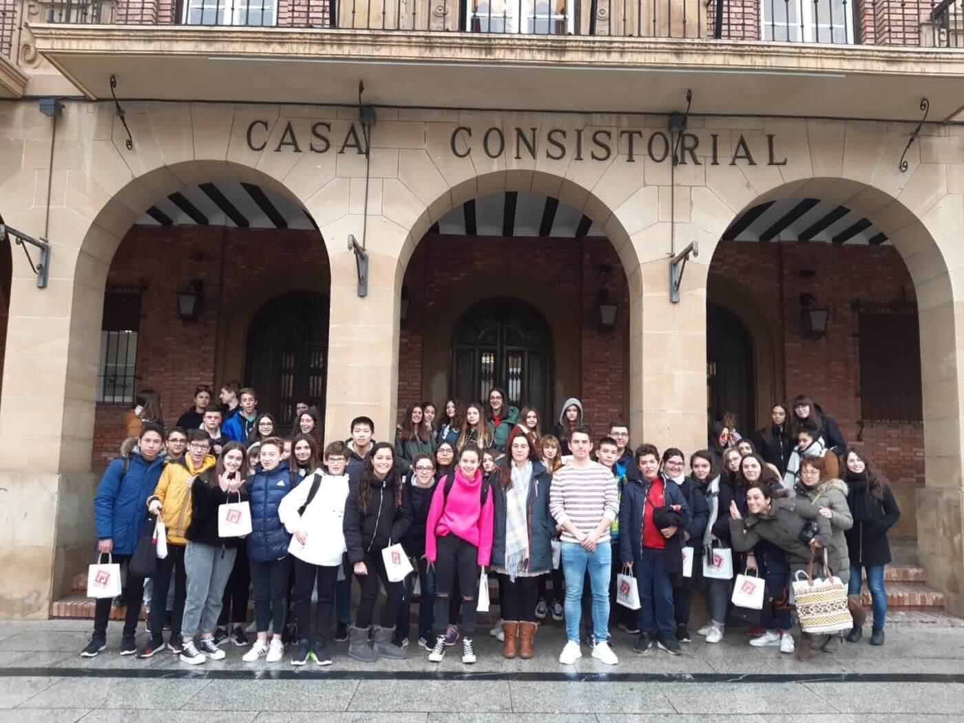 Un grupo de 24 alumnos franceses participa en un intercambio con estudiantes del IES Quintiliano