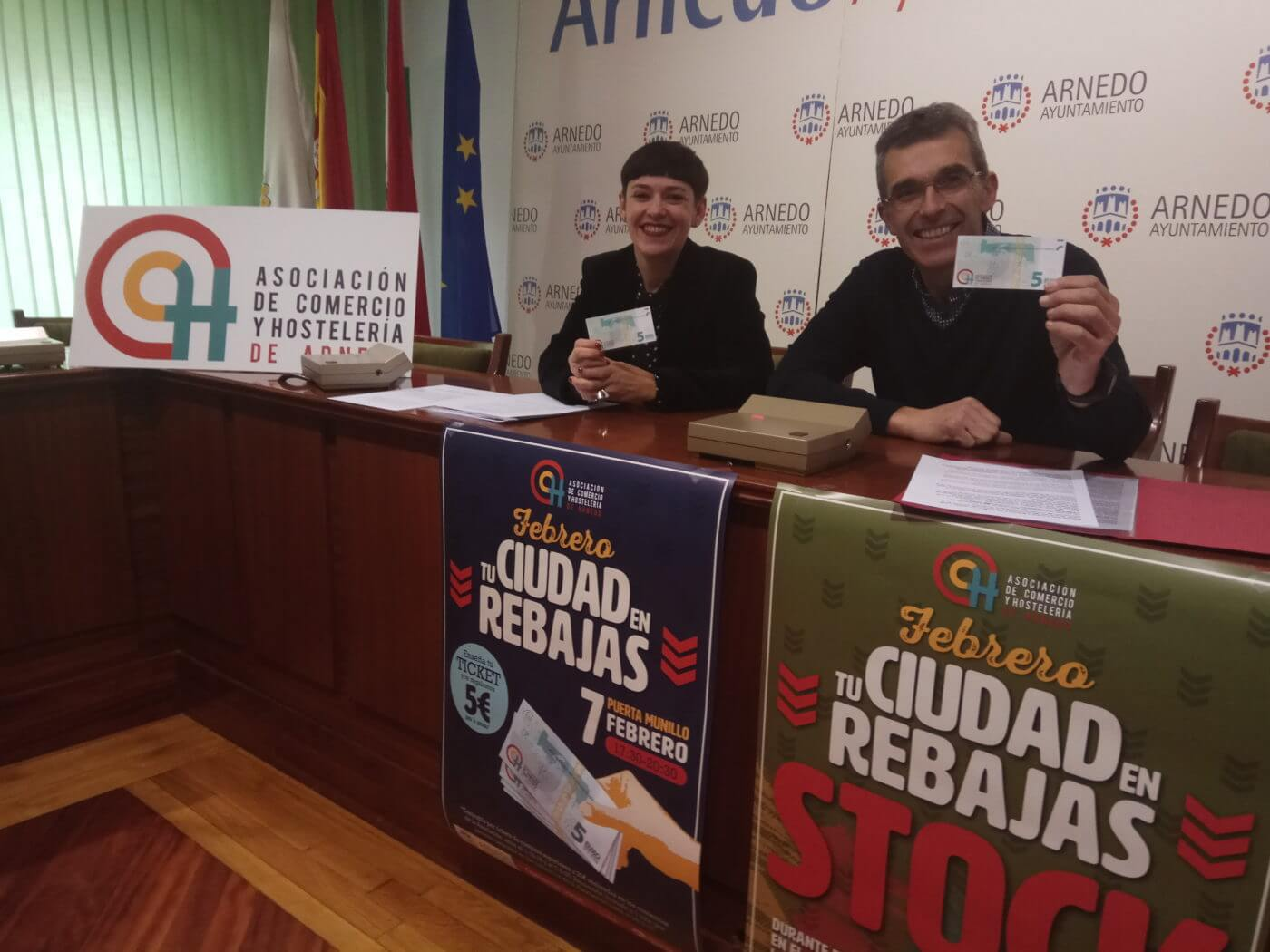 La Asociación de Comercio y Hostelería de Arnedo presenta la campaña 'Febrero, tu ciudad en rebajas'