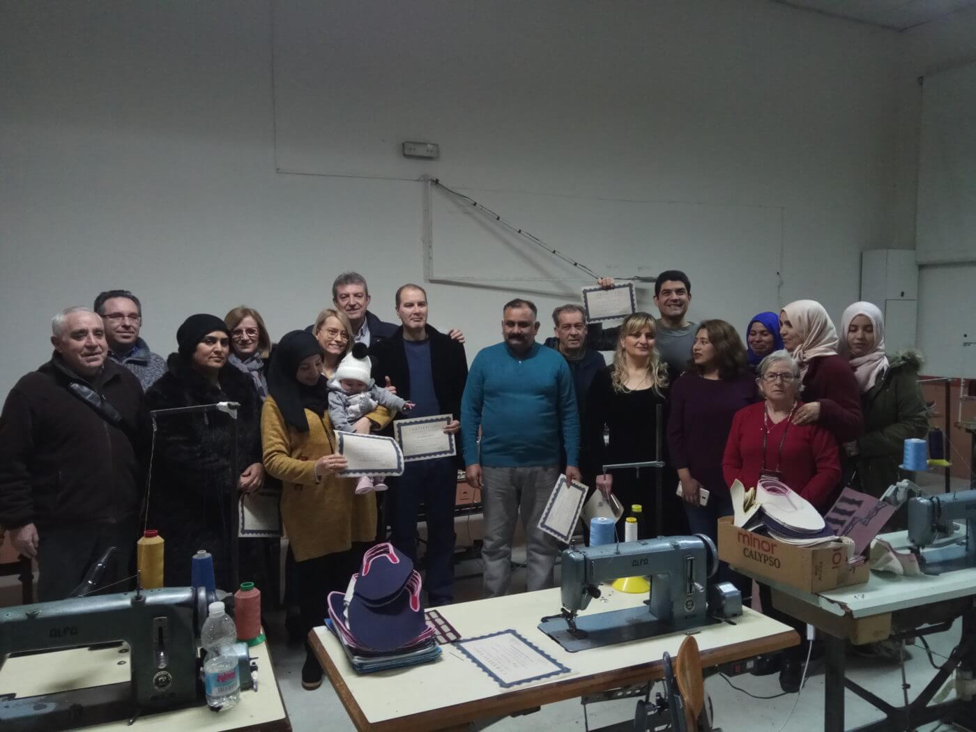 Diez alumnos han completado el curso de guarnecido de Cáritas Parroquial de Arnedo