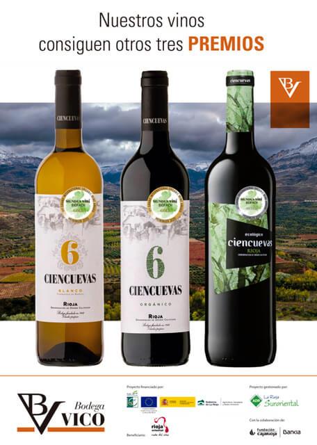 Los vinos ecológicos de la Bodega Vico de Arnedo vuelven a ser premiados