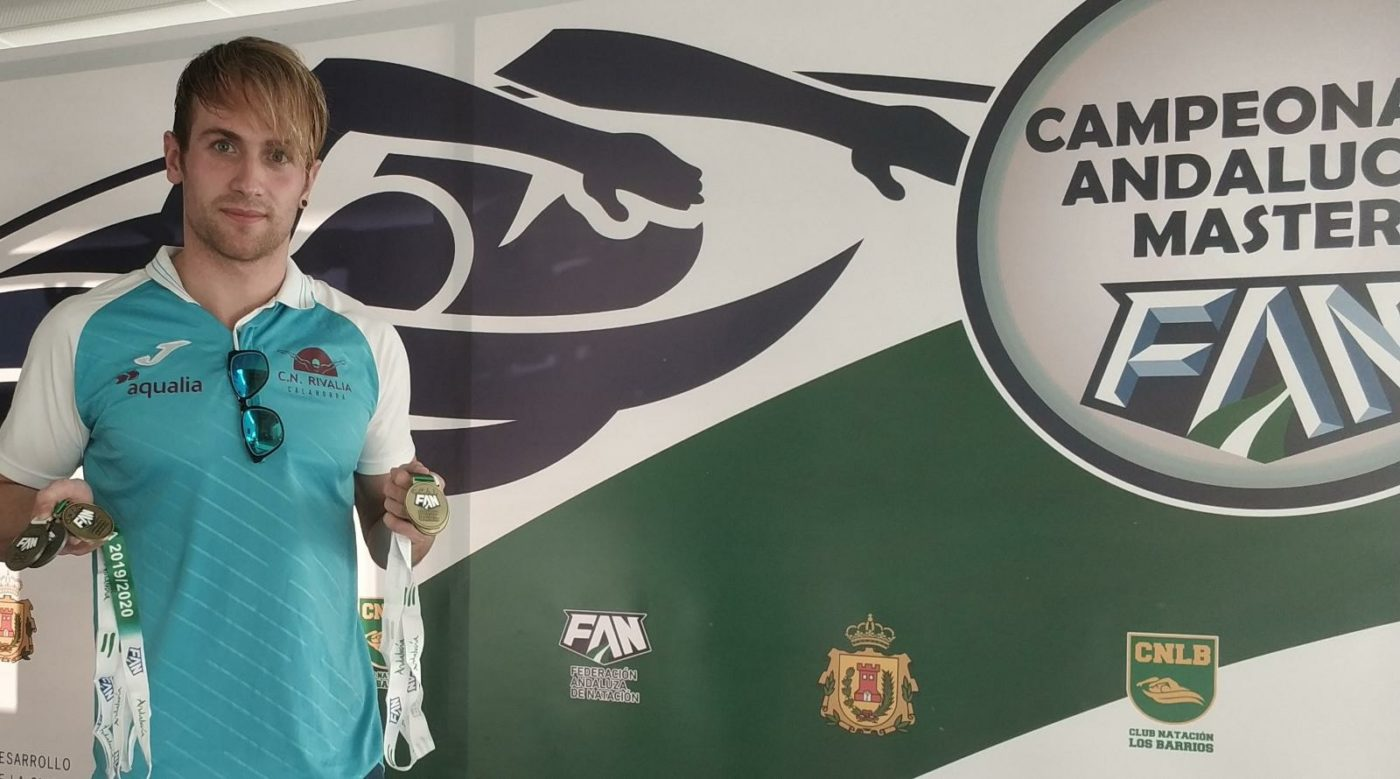 El nadador pradejonero Guillermo Ruiz Rodríguez logra cinco oros en el campeonato de Andalucía