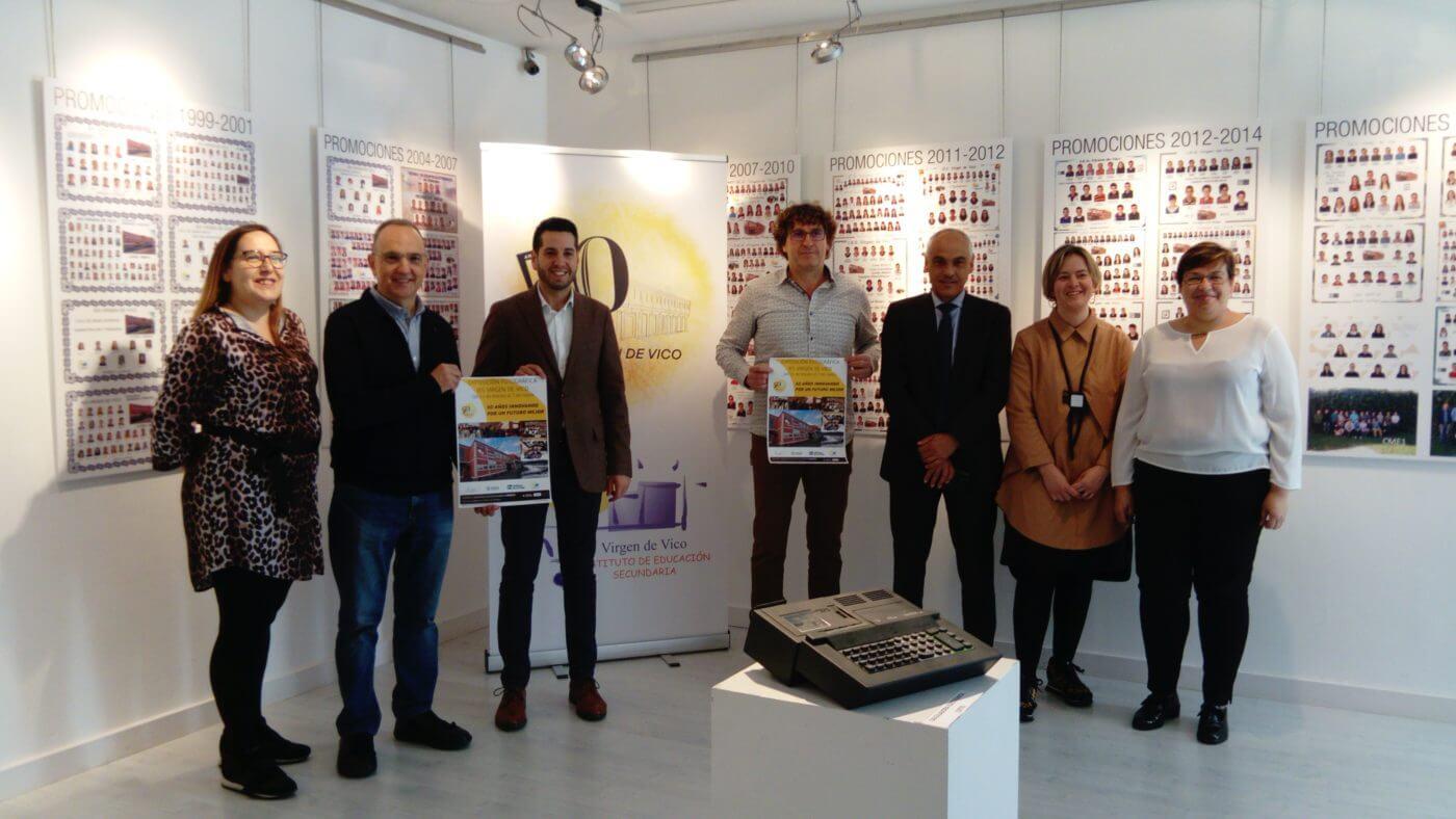 IES 'Virgen de Vico' de Arnedo celebra sus 50 años con una exposición en el Centro Caja Rioja-Bankia
