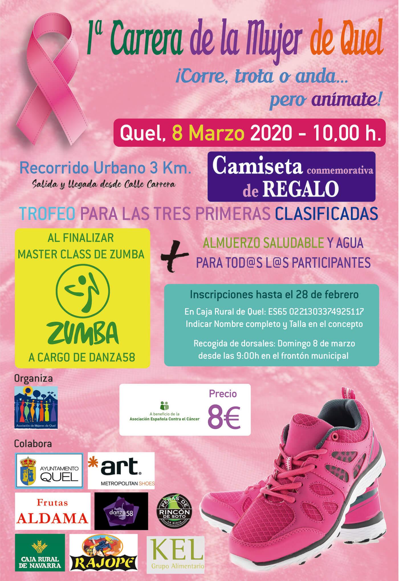 La I Carrera de la Mujer de Quel se celebrará el domingo 8 de marzo