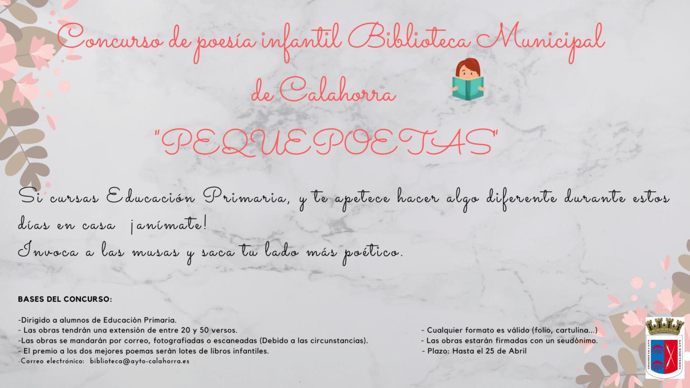 La biblioteca municipal de Calahorra convoca un concurso de poesía para alumnos de Primaria