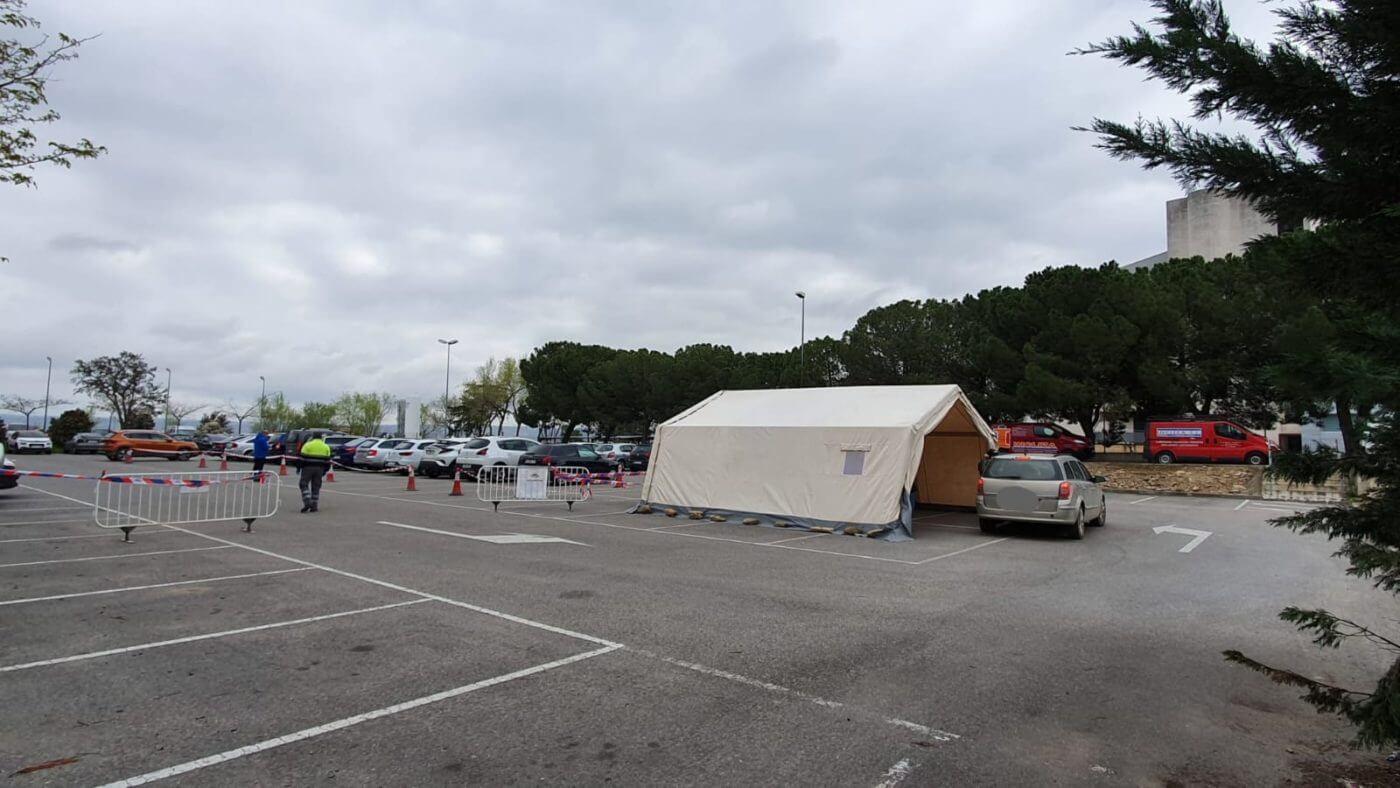 Instalado en Calahorra un centro móvil para agilizar las pruebas de diagnóstico del coronavirus