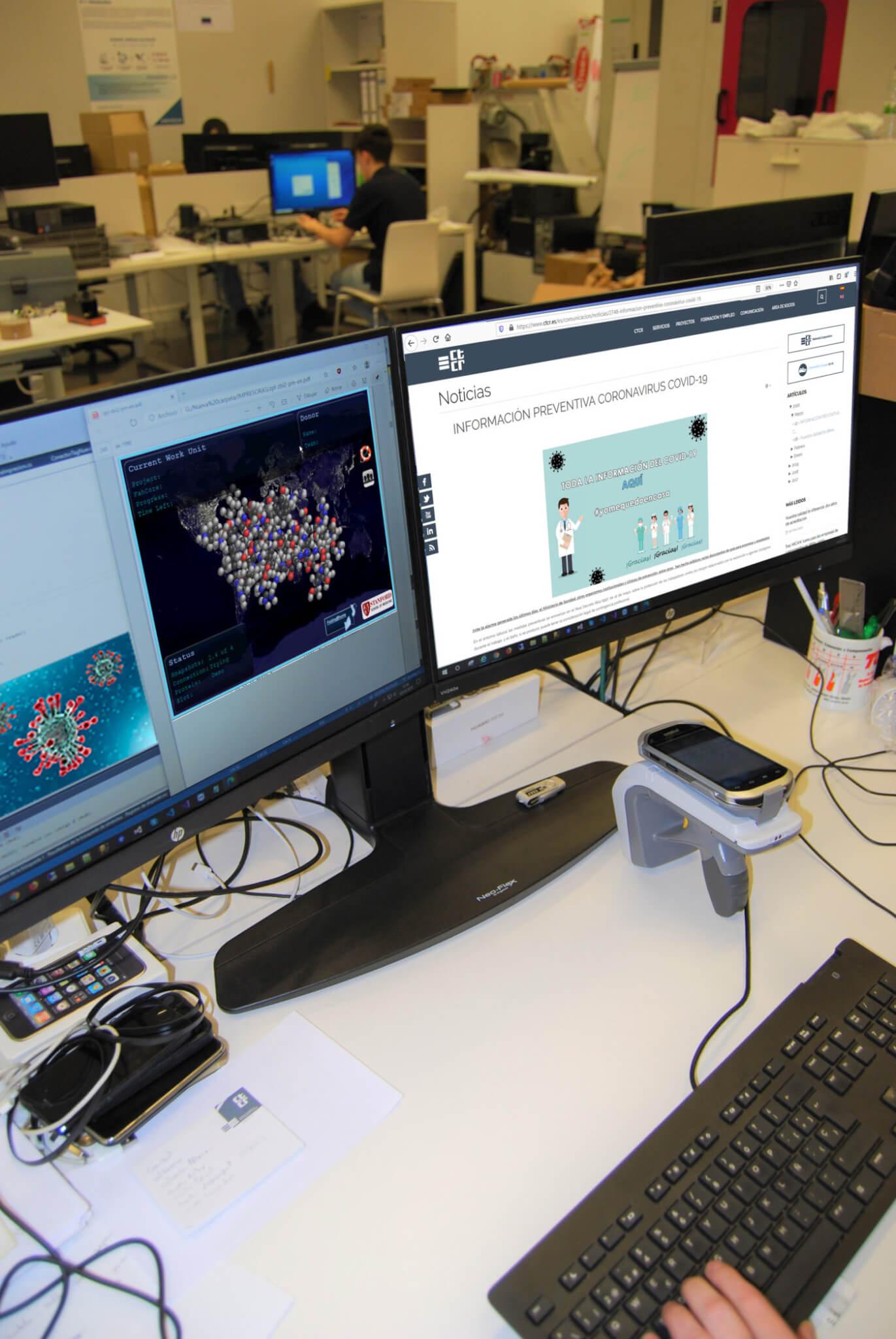 Investigadores del CTCR se unen a la lucha global contra la pandemia del COVID-19
