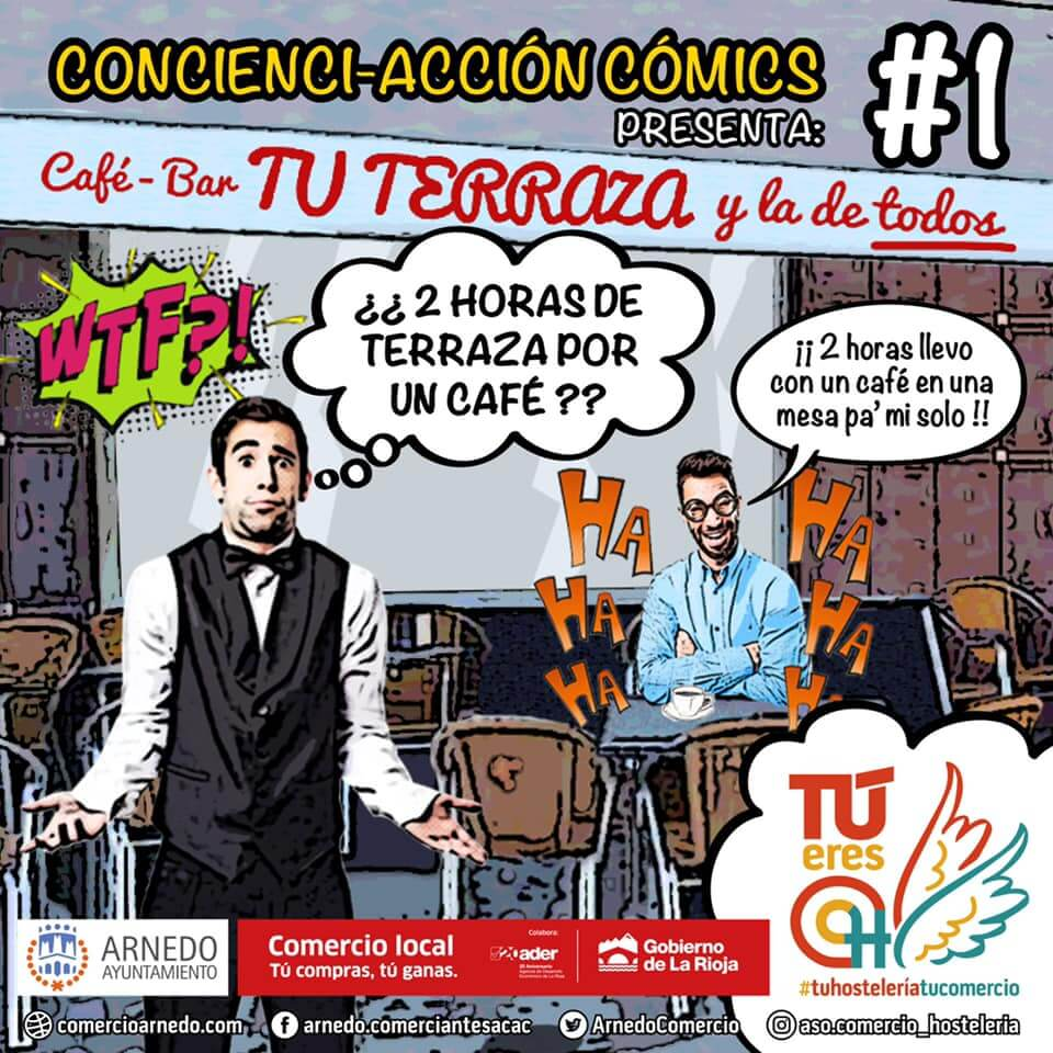 """La Asociación de Comercio y Hostelería pone en marcha una campaña de """"concienci-acción"""" mediante cómics"""