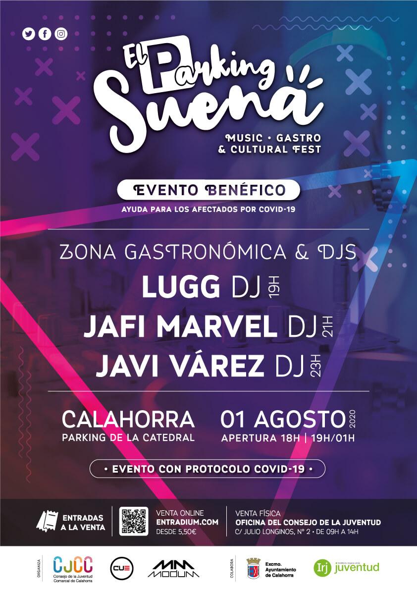 """El aparcamiento de la Catedral de Calahorra acogerá el 1 de agosto el evento musical """"El parking suena"""" con tres Dj's riojanos"""