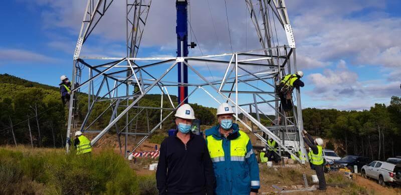 Concluye la repotenciación del eje eléctrico de 200 kV entre Quel y La Serna, en Navarra