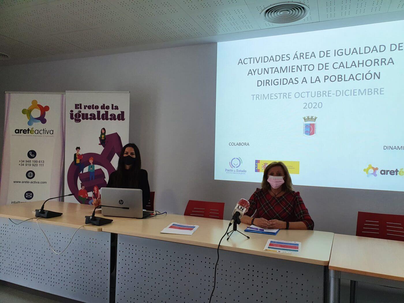 El ayuntamiento de Calahorra presenta las actividades trimestrales de la Concejalía de Igualdad, que incluyen talleres y sesiones virtuales para todas las edades