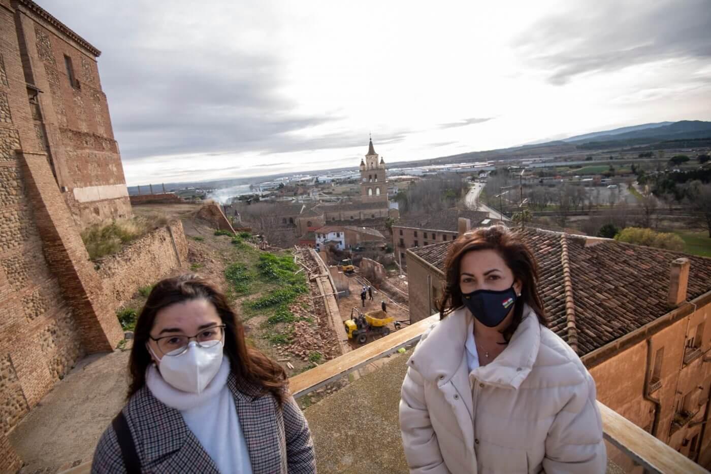 La presidenta Andreu visita las obras de restauración del patrimonio histórico artístico de Calahorra