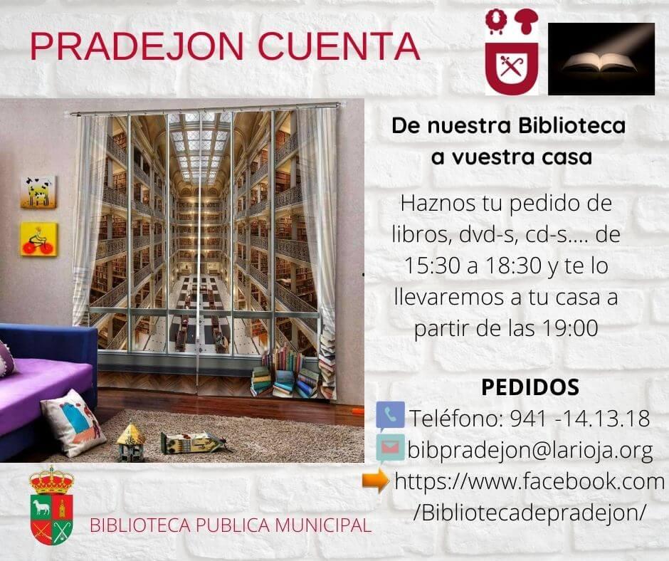La Biblioteca Municipal de Pradejón habilita un servicio de préstamo y devolución de libros 'a domicilio'