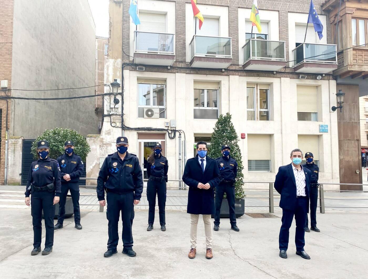 Seis nuevos agentes se incorporan a la plantilla de la Policía Local de Arnedo
