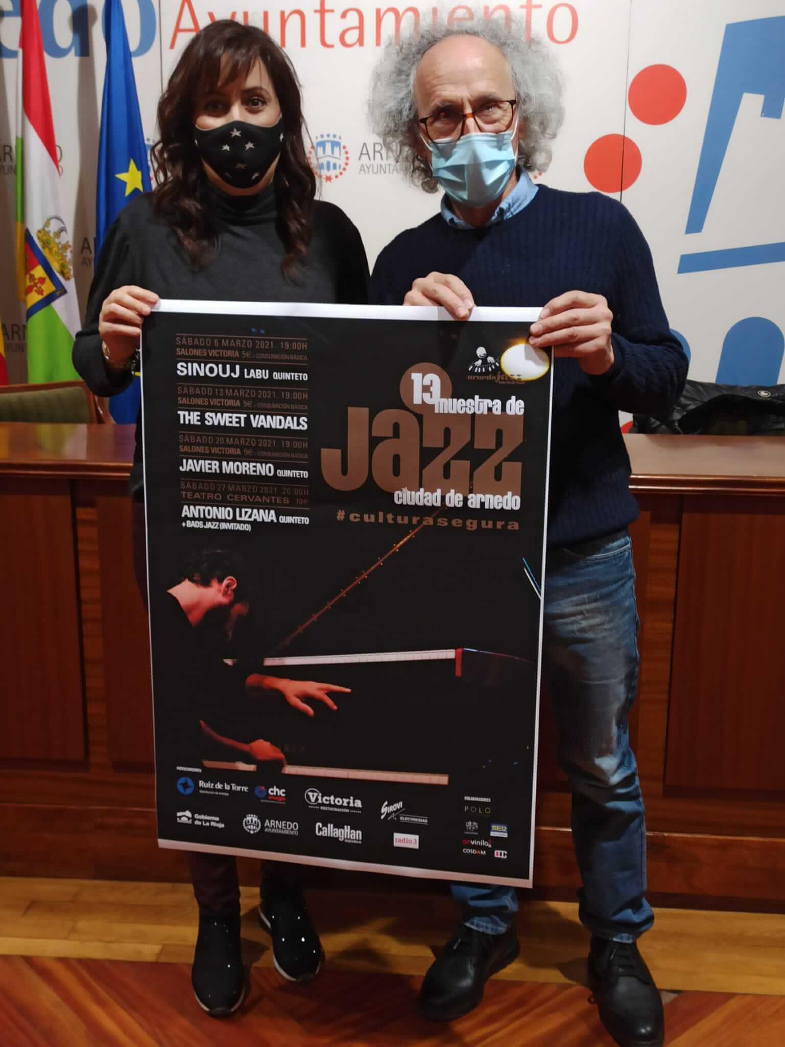 """La """"XIII Muestra de Jazz Ciudad de Arnedo"""" se celebrará los sábados de marzo con Sinouj Labu, The Sweet Vandals, Javier Moreno y Antonio Lizana"""