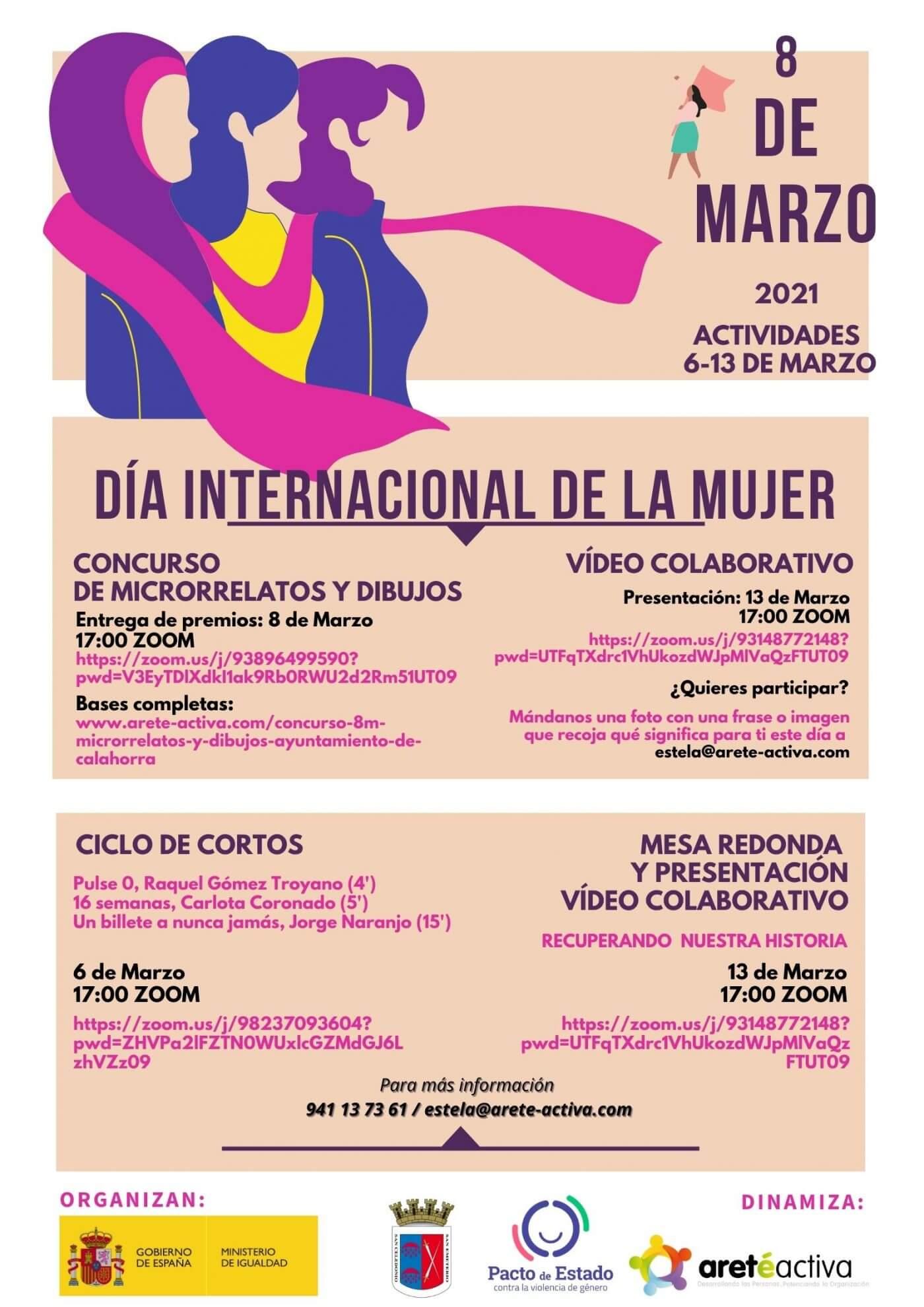 Un total de 55 personas han participado en los concursos organizados por la Concejalía de Igualdad de Calahorra con motivo del Día de la Mujer