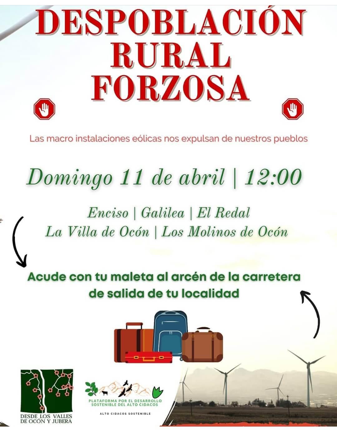 La plataformas vecinales del Alto Cidacos y de los valles de Ocón y Jubera convocan el domingo una nueva acción de protesta contra los megaparques eólicos proyectados