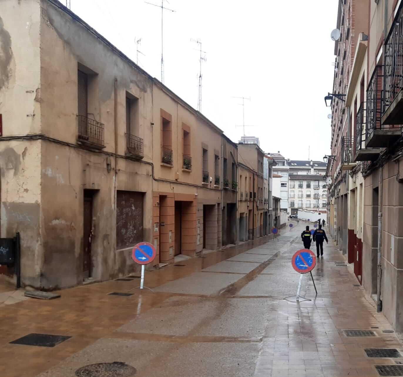 Abierto en Calahorra el primer tramo de la calle Eras