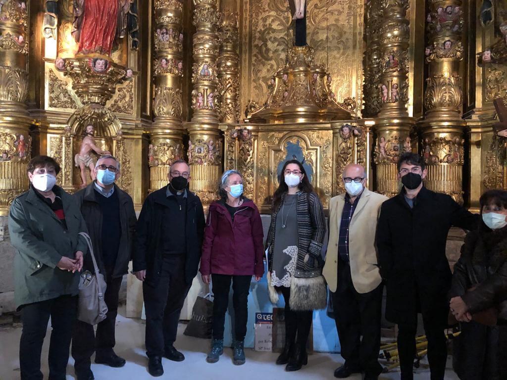El ayuntamiento de Calahorra financia con 10.000 euros las obras de restauración del retablo del Cristo de la Pelota llevadas a cabo por Amigos de la Catedral