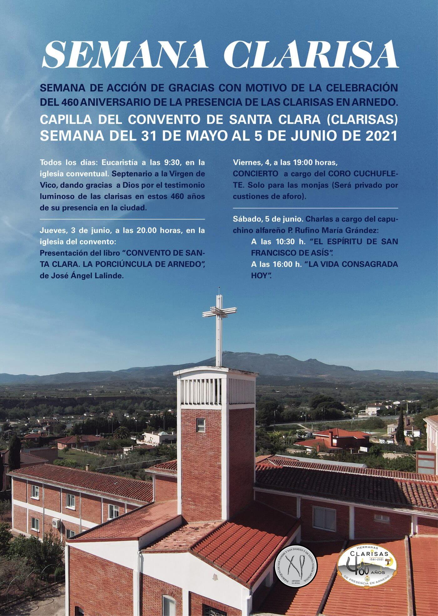 La parroquia de Arnedo organiza la 'Semana Clarisa' con motivo del 460 aniversario de la llegada de las Clarisas a la ciudad