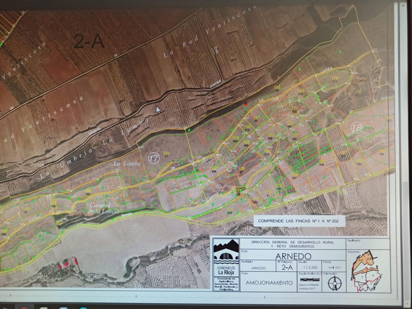 Los planos de la concentración parcelaria de Mabad-Bustarrío se pueden consultar en el Ayuntamiento de Arnedo hasta el 22 de mayo