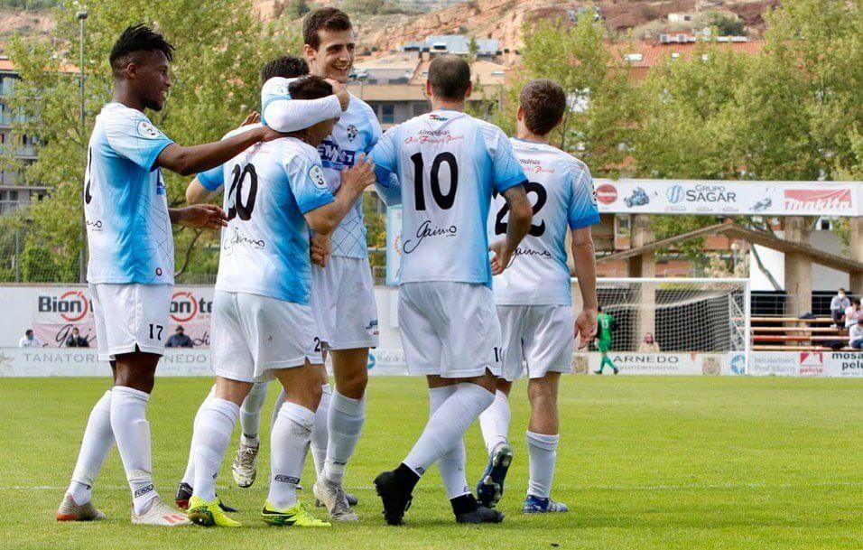 El CD Arnedo asegura su pase a cuartos del play-off de ascenso a Segunda B tras ganar al Yagüe