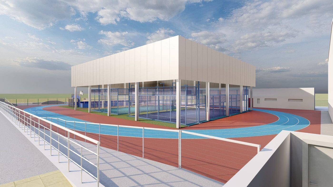 La alcaldesa de Autol confía en que para noviembre estén listas las pistas de pádel y de atletismo y el auditorio municipal