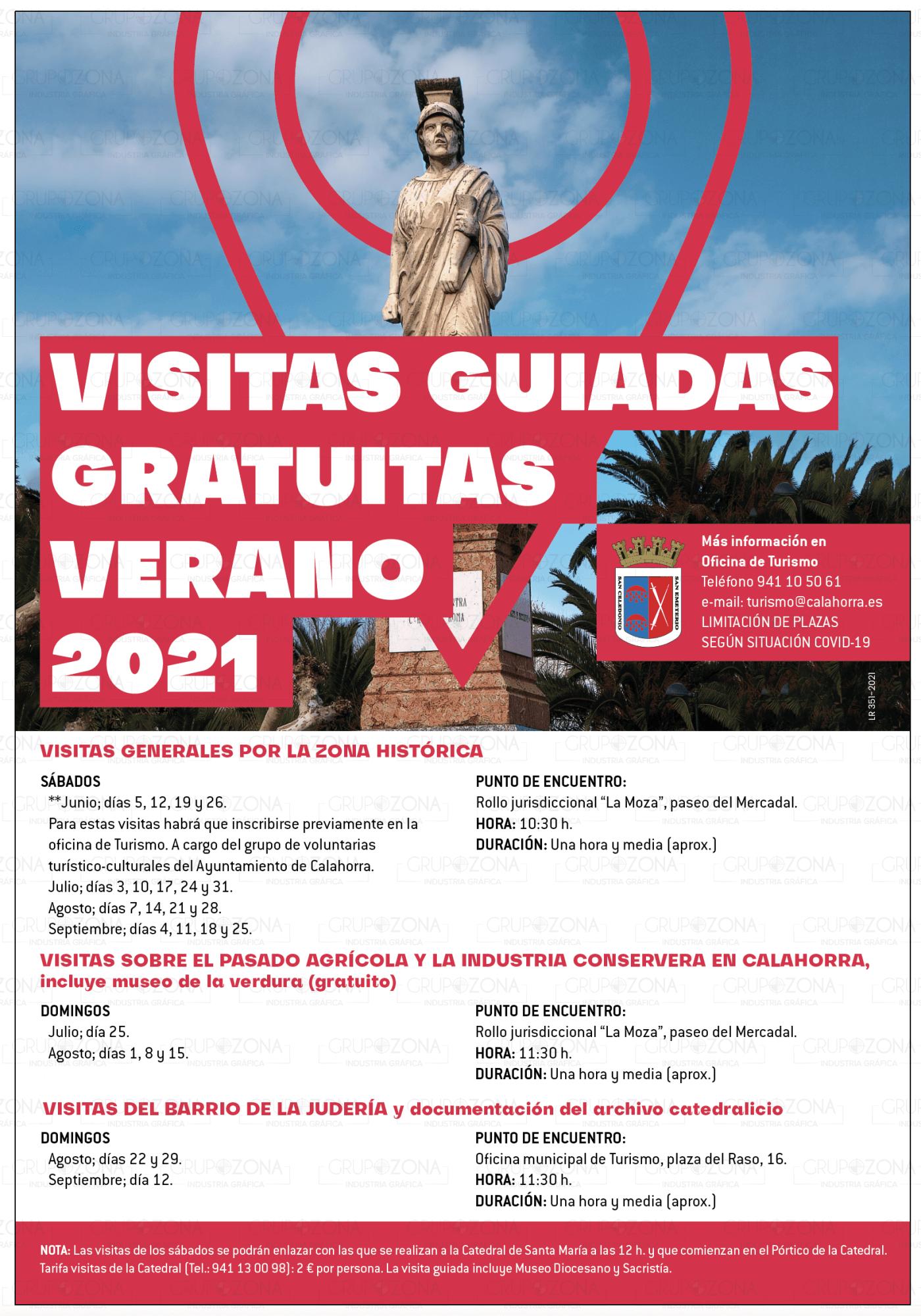 El Ayuntamiento de Calahorra organiza este verano visitas guiadas por distintas zonas de la ciudad