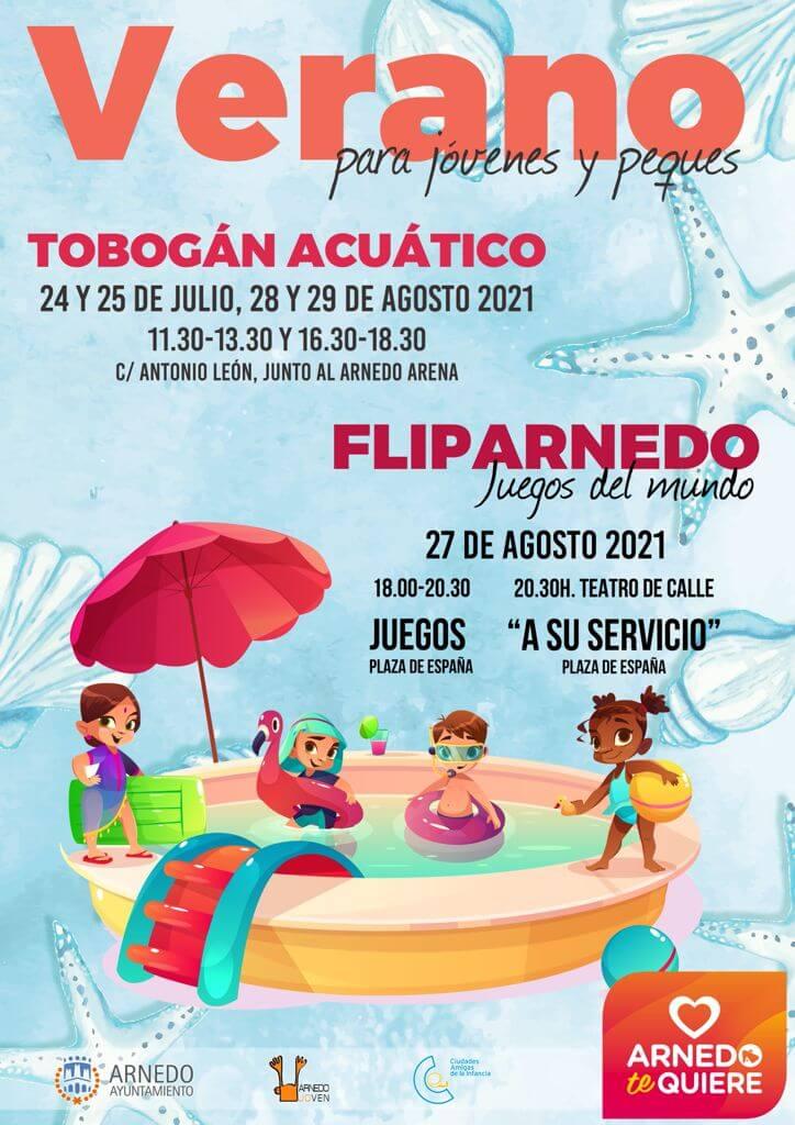 La concejalía de Juventud de Arnedo organiza este verano un tobogán acuático gigante y el festival de juegos FlipArnedo