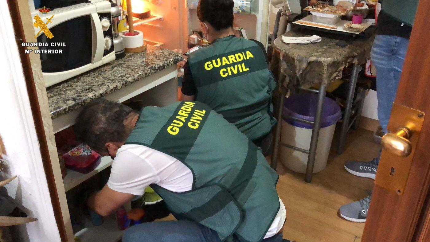 """La 'Operación Lupino' de la Guardia Civil de La Rioja desmantela dos """"puntos calientes"""" de venta de droga en Arnedo"""