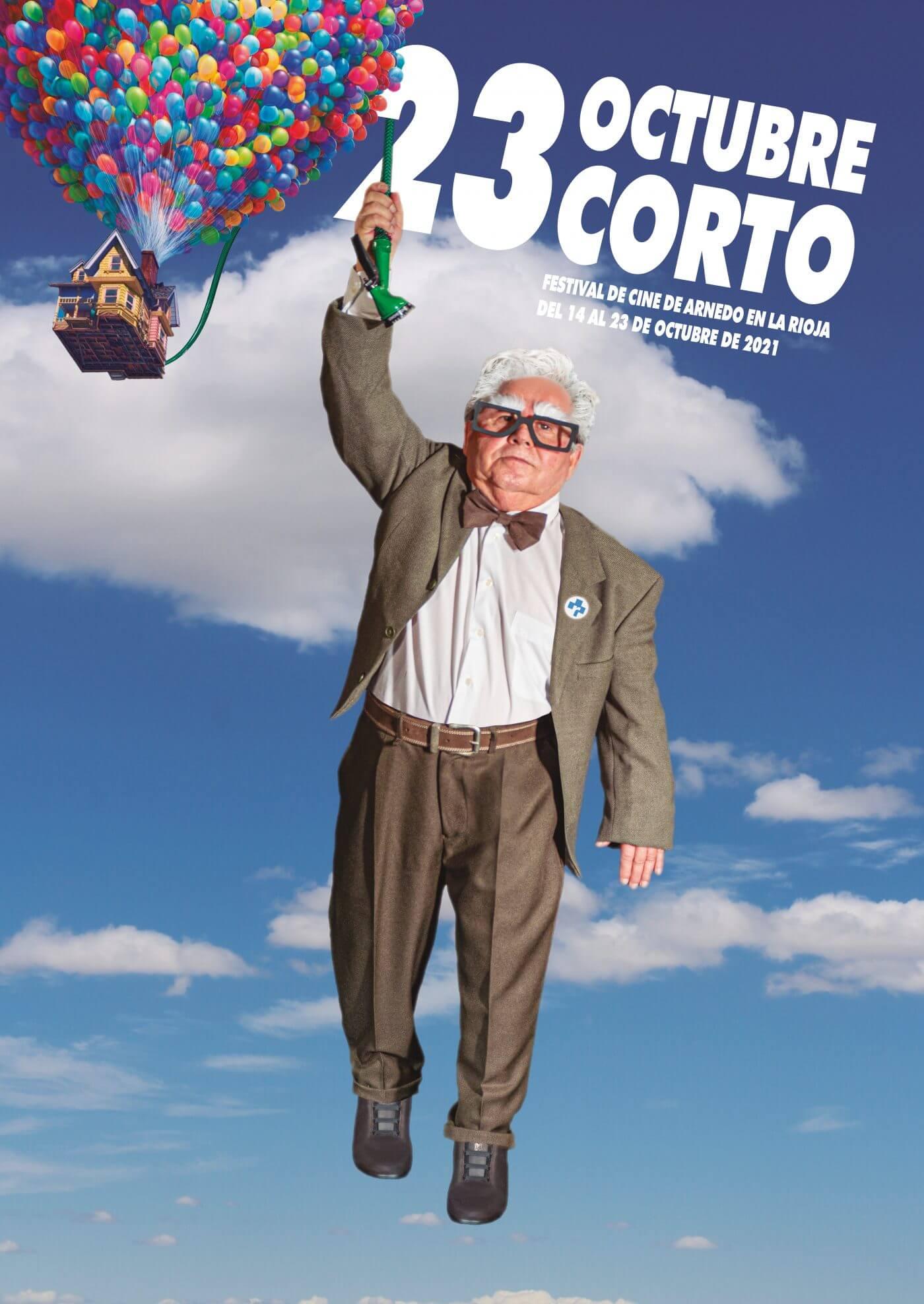 El festival 'Octubre Corto' de Arnedo homenajea a las personas mayores con el cartel de su 23ª edición, inspirado en la película de animación 'UP'