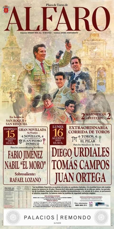 Presentado el cartel de la Feria Taurina 2021 de Alfaro
