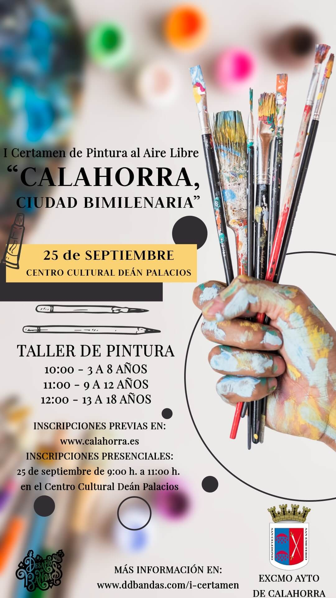Lee más sobre el artículo El ayuntamiento de Calalahorra convoca el I Certamen de Pintura Rápida al Aire Libre 'Calahorra, Ciudad Bimilenaria'