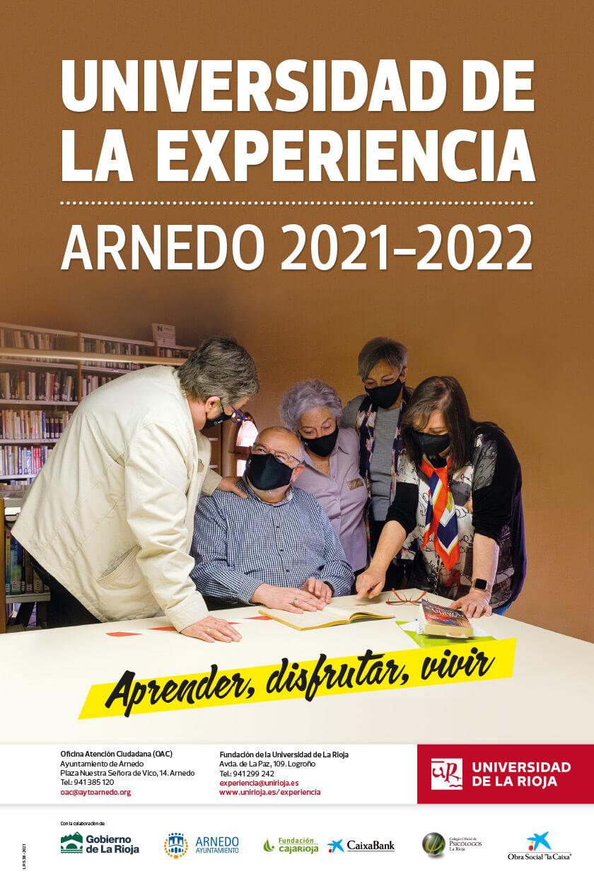 Lee más sobre el artículo La UR abre el plazo de matrícula en la Universidad de la Experiencia para el curso 2021-2022 en sus sedes de Logroño, Calahorra, Haro y Arnedo