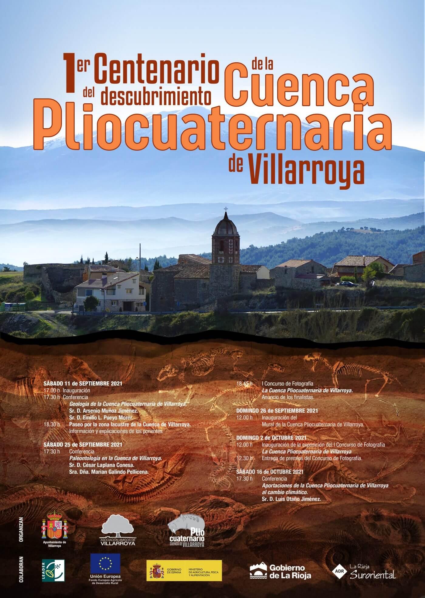 Lee más sobre el artículo Villarroya celebra el centenario del descubrimiento del yacimiento paleontológico de su Cuenca Pliocuaternaria