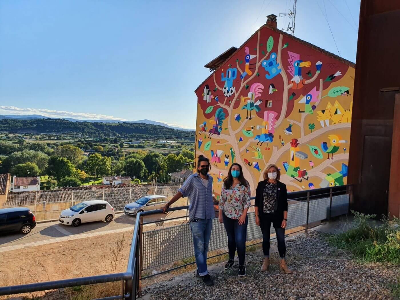 Lee más sobre el artículo Concluye en Calahorra el mural de la calle Portillo de la Plaza