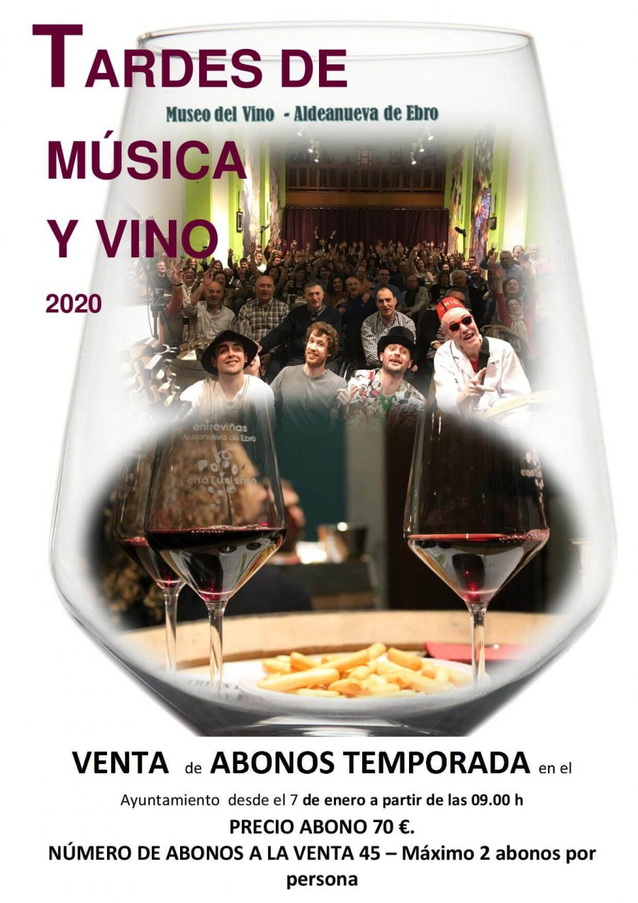ALDEANUEVA cartel tardes de música y vino