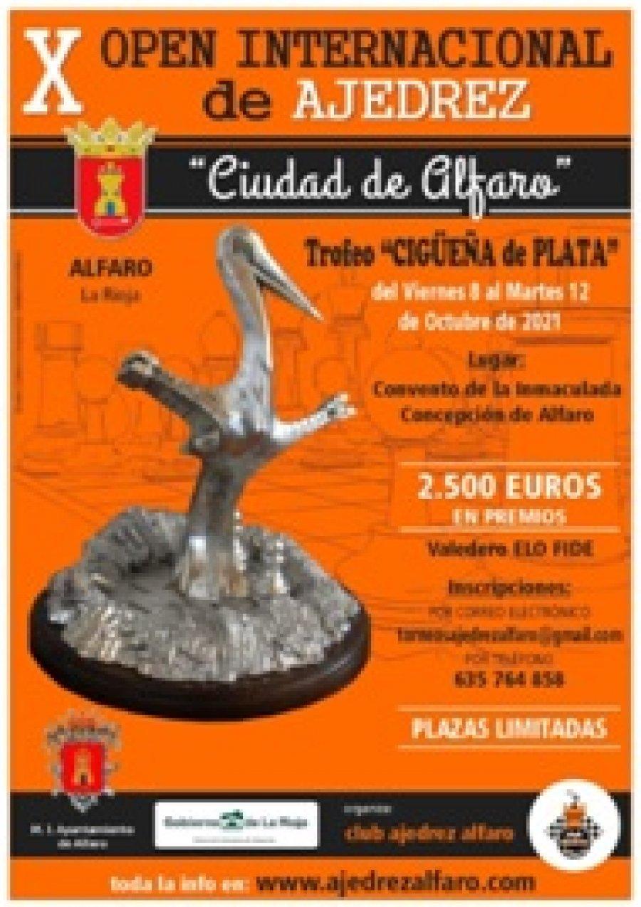 ALFARO cartel X open ajedrez